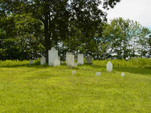 photo of Ketchums Corners Cemetery stones